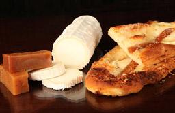 Coca de formatge de cabra i codony